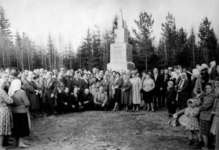 Opening of memorial in Poplavy, 1965.