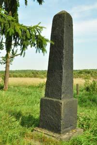 Памятник на месте первого расстрела евреев Краснополья.