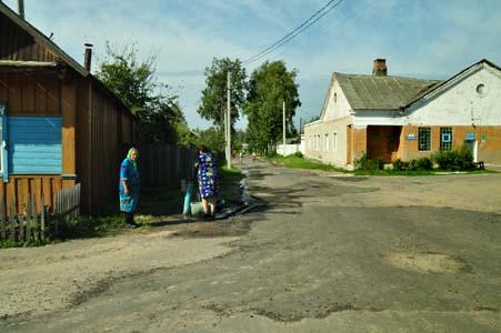 Банный переулок. Здесь было Краснопольское гетто.