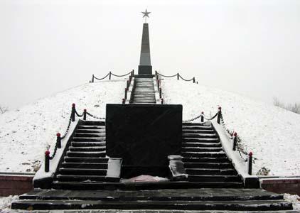 Курган памяти в Кричеве на ул. Комсомольской.