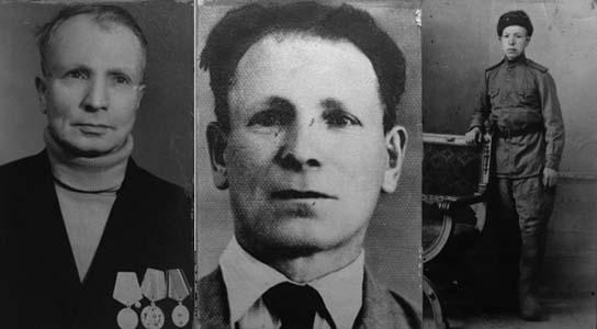 Братья Ефим, Лев и Григорий Свистуновы.