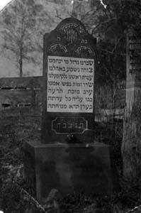 Памятник на могиле Стеси Шнеерсон.