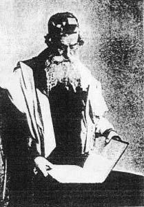 Мстиславльский еврей за молитвой.