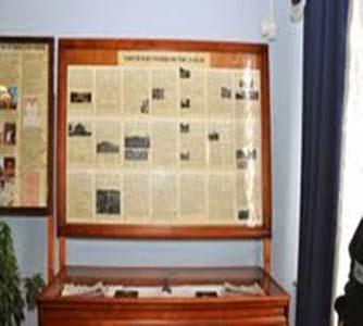 Стенды, посвящённые истории евреев Мстиславля.