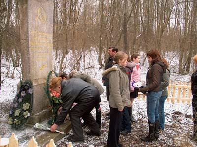 Место расстрела евреев местечек Печковка и Яновка.