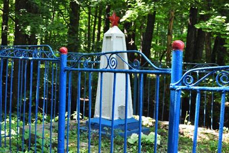 Место расстрела евреев местечка Самотевичи.