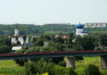 View over Shklov from the Dnieper.