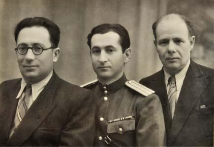 Friends from Sukhari: Isaak Dudkin, Abram Estulin, Lazar Litin.