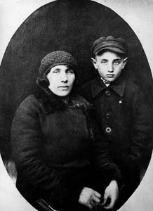 Sofia Vulfovna Katsman with son Leva. Sukhari.